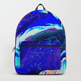 Blue Silk Backpack