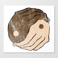 ying yang Canvas Prints featuring Ying Yang by Bear Bone