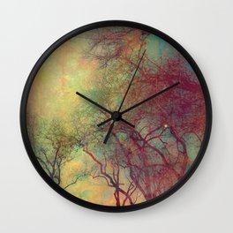 Tree Silhouette, Autumn Sunset Wall Clock