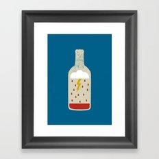 wine bottle Framed Art Print