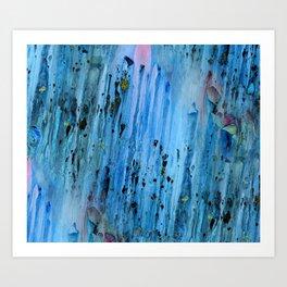 Blue Cave Art Print