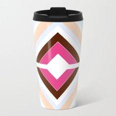 Mod stripes in raspberry Travel Mug