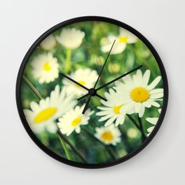 Chamomile flowers Wall Clock