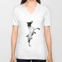 best friend V-neck T-shirts featuring Best Friend by Michael Hewitt