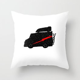 Adventure car Throw Pillow
