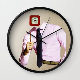 Business Man Alarm Wall Clock