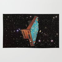 pool Area & Throw Rugs featuring Cosmic Pool by Eugenia Loli