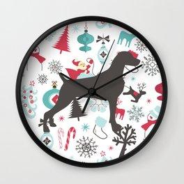 HOLIDAY WEIMARANER Wall Clock