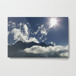 Clouds play over the Tyrolean Alps, color photo Metal Print