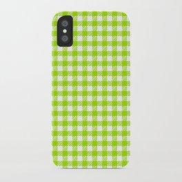 Picnic Pals gingham in citrus iPhone Case
