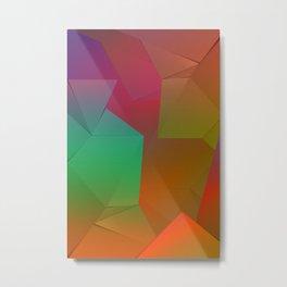 Rainbow Origami Metal Print