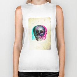Stereoscopic Skull Biker Tank
