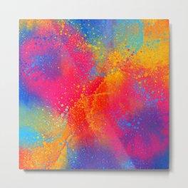 Amazing Florescent Bohemian Paint Mix Metal Print
