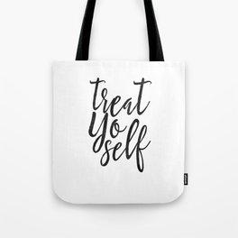Treat Yo Self, Quote prints,Love Yourself, Kitchen Decor,Printable Wall Art,Quote Printable Tote Bag