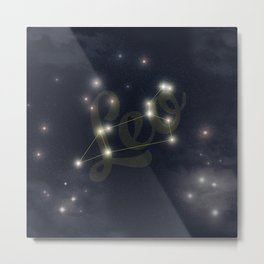 Leo Constellation - Zodiac Metal Print