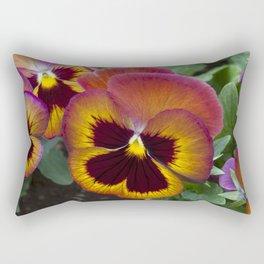 Pansy Painted Rectangular Pillow
