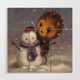 Snowy Friend (Forever Halloween Collection) Wood Wall Art
