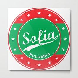 Sofia, Bulgaria, circle, green Metal Print