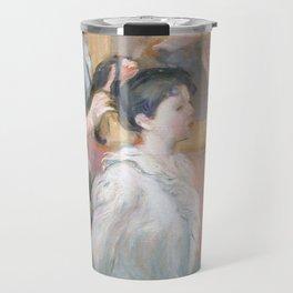 La Coiffure by Berthe Morisot Travel Mug