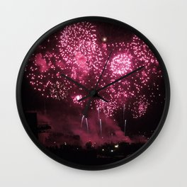 Loto Quebec Fireworks - 2014 Wall Clock