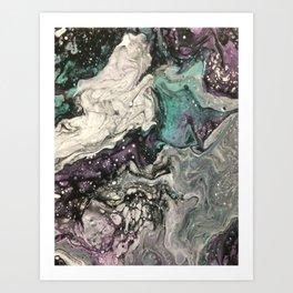 Fluid Butterfly Marble Art Print