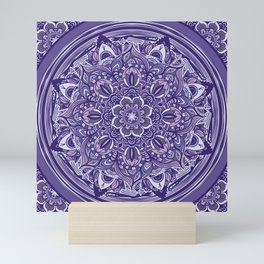 Great Purple Mandala Mini Art Print