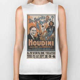 Houdini - vintage poster, spirits Biker Tank