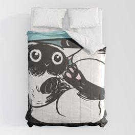 If I fits, I sits.   Comforters