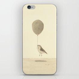 bird with a balloon iPhone Skin
