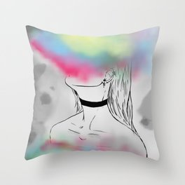 Destroy Yourself To See Who Cares Throw Pillow