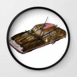 Dick Tracy Era Wind-up Toy Army Car Wall Clock