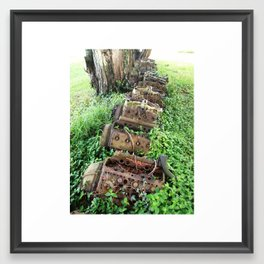 Engine Graveyard Framed Art Print