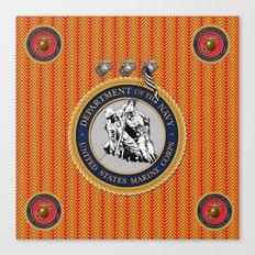 USMC Chevron design. Canvas Print