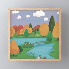 Colourful Countryside Framed Mini Art Print