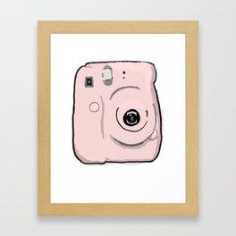 Pink Instax Camera Framed Art Print