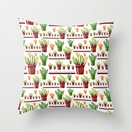 I'm a flower just a really spiky one pattern Throw Pillow