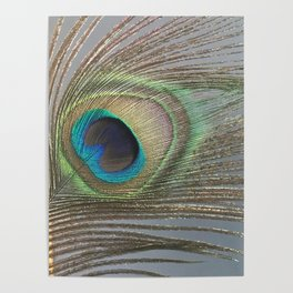 Peacock Feather No.1 | Feathers | Nadia Bonello | Ottawa | Canada Poster