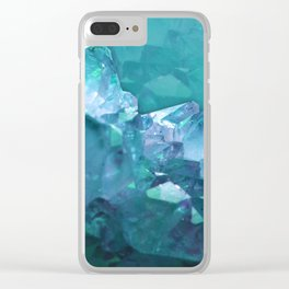 Underwater Crystals Clear iPhone Case