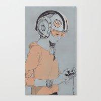 rebel Canvas Prints featuring Rebel by Señor Salme