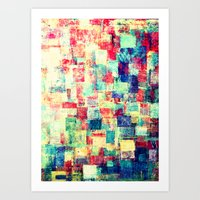 Scraps 7 Art Print