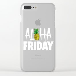 Aloha Friday Tropical Summer Vibes Fruit Clear iPhone Case