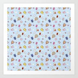cardcaptor cute pattern blue Art Print