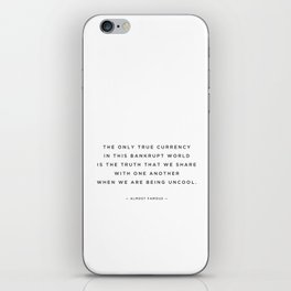 quoted — uncool — almost famous iPhone Skin