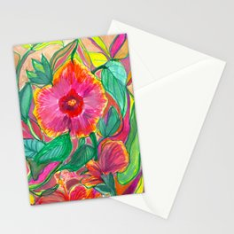 Happiness is Hibiscus Stationery Cards