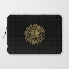 Golden  Star of Lakshmi - Ashthalakshmi  Sri Laptop Sleeve