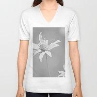 michigan V-neck T-shirts featuring MICHIGAN DAISY  by Alex Kakabaker