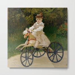 "Claude Monet ""Jean Monet (1867–1913) on His Hobby Horse"" Metal Print"