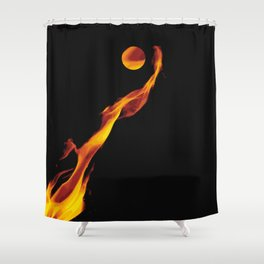 Let it fire to the moon - Fire sign - The Five Elements Shower Curtain