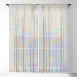 Rainbow Oil Slick Sheer Curtain