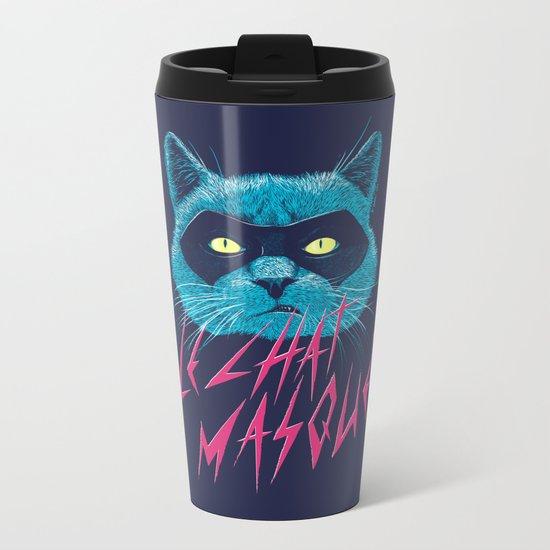 Le Chat Masqué Metal Travel Mug